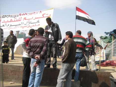 At Cairo's Tahrir Square during/after the revolution in Feb 2011
