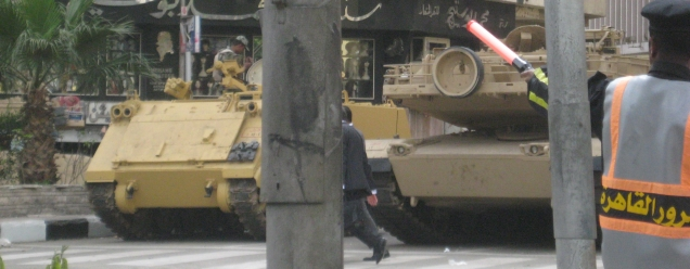 Streets full of tanks in Cairo (Feb 2011)
