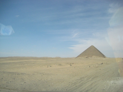 Pyramids without tourists (Egypt, 2011)