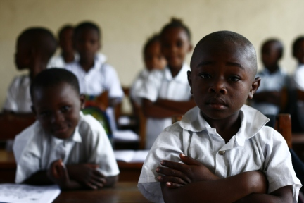 A recent visit to the DRC. School kids in Goma / DR Congo (2016)